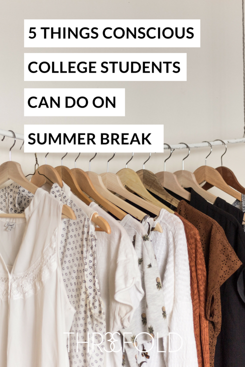 how to be a conscious consumer in college